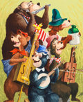 Animation Art:Production Drawing, The Country Bear Jamboree Painting (Walt Disney, 1970s)....