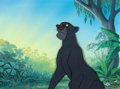 Animation Art:Production Cel, The Jungle Book Bagheera Production Cel and MasterBackground Setup (Walt Disney, 1967)....