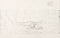 Animation Art:Production Drawing, Sleeping Beauty Princess Aurora Layout Drawing (Walt Disney,1959)....