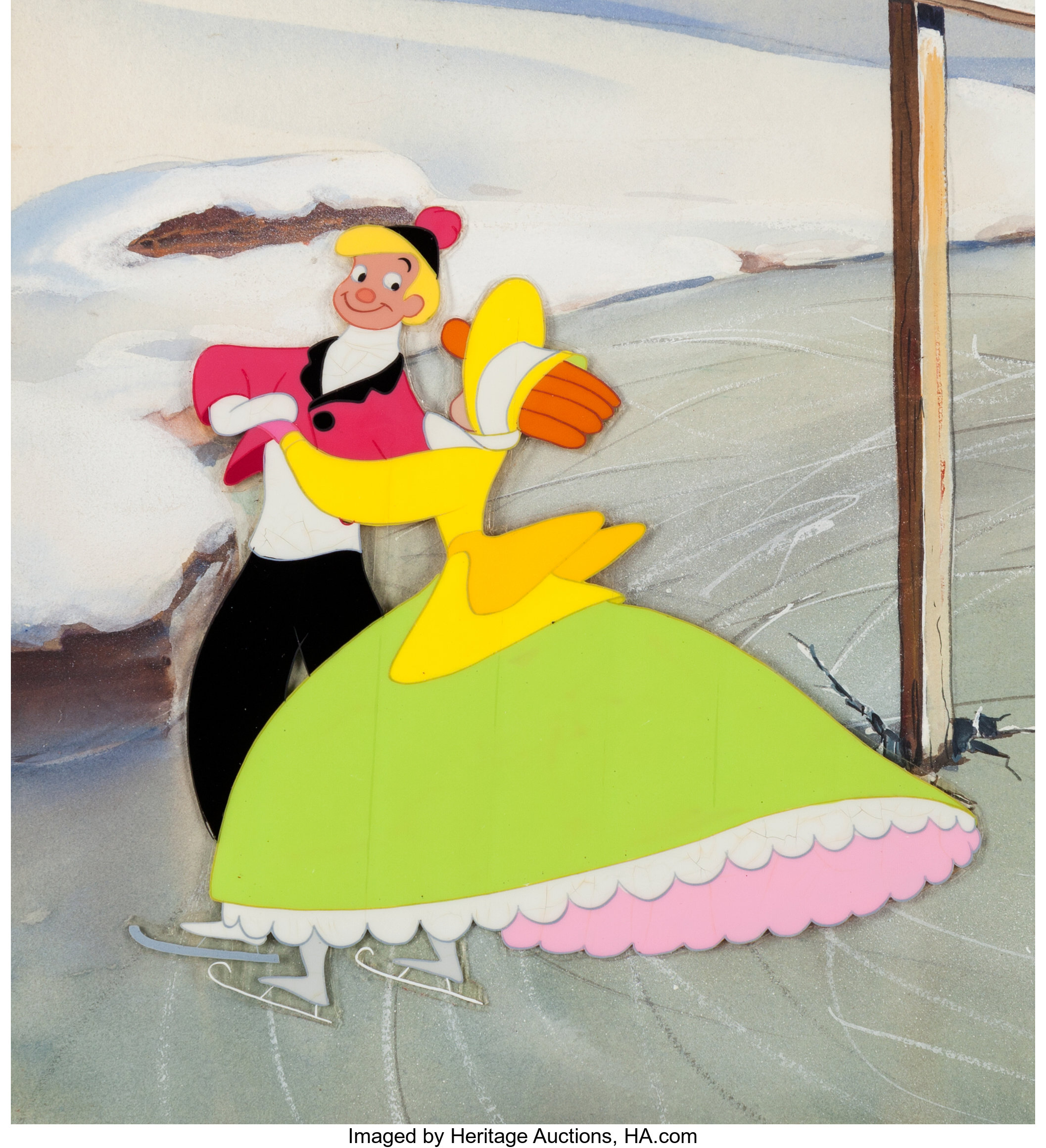 Melody Time Once Upon A Wintertime Segment Production Cel And Lot 97184 Heritage Auctions