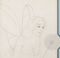 Animation Art:Production Drawing, Pinocchio Blue Fairy Animation Drawing with Light-Up Frame(Walt Disney, 1940)....
