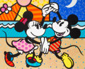 Animation Art:Poster, Romero Britto Mickey Mouse's Greatest Love Limited EditionSerigraph #57/500 (1997)....