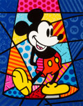 Animation Art:Production Drawing, Romero Britto Mickey Mouse Limited Edition Serigraph #294/500 (WaltDisney, 1998)....
