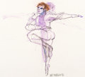 Animation Art:Production Drawing, Walt Peregoy Male Ballet Dancer Drawing (1972)....