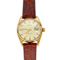 Timepieces:Wristwatch, Rolex Ref. 6534 Gold Oyster Perpetual, circa 1956. ...