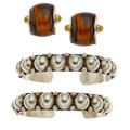 Estate Jewelry:Lots, Tiger's-Eye Quartz, Agate, Sterling Silver, Silver Jewelry. ...
