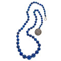 Estate Jewelry:Necklaces, Lapis Lazuli, Silver Necklace. ...