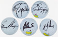 Golf Collectibles:Balls/Tees - Miscellaneous, Masters Champions Signed Golf Balls Lot of 5....