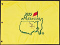 Golf Collectibles:Autographs, 2015 Jordan Spieth Signed Masters Flag. ...