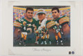 "Football Collectibles:Photos, Favre, Winters and Chmura ""Three Amigos"" Multi Signed Print...."