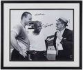 Football Collectibles:Photos, Dick Butkus and Gale Sayers Multi Signed Oversized Photograph....