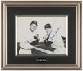 Baseball Collectibles:Photos, Mickey Mantle and Stan Musial Multi Signed Oversized Photograph....
