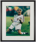 Miscellaneous Collectibles:General, Mia Hamm Signed Oversized Photograph....