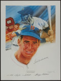 Baseball Collectibles:Photos, Mickey Mantle and Ted Williams Signed Lithographs (2)....