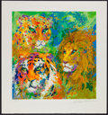 "Miscellaneous Collectibles:General, LeRoy Neiman Signed Lions ""Family Portrait"" Serigraph...."