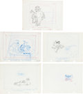 Animation Art:Production Drawing, Exxon Television Commercial Layout Drawing Group of 5 (Exxon, c.1969).... (Total: 5 Original Art)