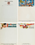 Animation Art:Limited Edition Cel, Walt Disney Letterhead Group (Walt Disney, 1940s-90s).... (Total:45 Illustration Art)