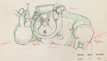 Animation Art:Production Drawing, Pinocchio Coachman Animation Production Drawing (WaltDisney, 1940). ...