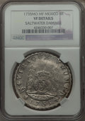 Mexico, Mexico: Philip V Pillar Dollar of 8 Reales 1735 Mo-MF VF Details(Saltwater Damage) NGC,...