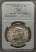 German States:Bavaria, German States: Bavaria. Otto 5 Mark 1913-D MS63 NGC,...