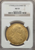 Colombia, Colombia: Charles III gold 8 Escudos 1774 NR-JJ AU53 NGC,...