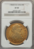 Chile, Chile: Charles III gold 8 Escudos 1784 So-DA XF40 NGC,...