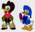 Animation Art:Production Cel, Donald Duck Production Cels (Walt Disney, 1960s).... (Total: 2 )