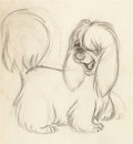 Animation Art:Production Drawing, Lady and the Tramp Peg Animation Drawing (Walt Disney,1955)....