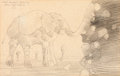 Animation Art:Production Drawing, Heinz Edelmann Original Elephant Drawing (United Artists/KingFeatures, 1968)....