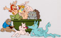 Animation Art:Production Cel, Fritz the Cat Tub Orgy Production Cel Setup (Ralph Bakshi,1972)....