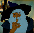 Animation Art:Production Cel, Lord of the Rings Gandalf Production Cel Setup and KeyMaster Background (Ralph Bakshi/United Artists, 1978)....