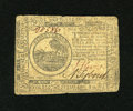 Colonial Notes:Continental Congress Issues, Continental Currency July 22, 1776 $6 Very Fine. A moderatelycirculated example of this second scarcest Continental emissio...