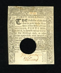 Colonial Notes:Connecticut, Connecticut March 1, 1780 40s Choice About New. A single horizontal fold separates this punch cancelled note from the New gr...