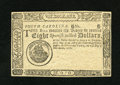 Colonial Notes:South Carolina, South Carolina December 23, 1776 $8 Gem New. A wonderful example of this oft seen remainder that is broadly margined with gr...