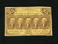 Fractional Currency:First Issue, Fr. 1281 25c First Issue Very Fine. The First Issue underwent rationing to the populace....