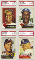 Baseball Cards:Sets, 1953 Topps Baseball Near Set (254/274), All Unqualified PSA EX-MT6's! Just a little bit more work and you'll be able to com...