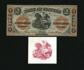 Canadian Currency: , Clifton, Province of Canada- Bank of Clifton $2 Sep. 1, 1861Charlton 125-12-12. .. ... (Total: 2 items)