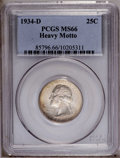 Washington Quarters: , 1934-D 25C Heavy Motto MS66 PCGS. PCGS Population (7/0).(#85796)...