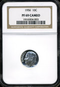 Proof Roosevelt Dimes: , 1956 10C PR69 Cameo NGC. NGC Census: (48/0). PCGS Population(10/0). Numismedia Wsl. Price: $120.(#85231)...