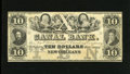 Obsoletes By State:Louisiana, New Orleans, LA- Canal Bank $10 18__. Columbus and Robert Fulton flank the allegorical central vignette that also has medall...