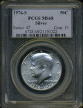 Kennedy Half Dollars: , 1976-S 50C Silver MS68 PCGS. PCGS Population (185/1). NGC Census:(8/0). Mintage: 11,000,000. Numismedia Wsl. Price: $135.(...