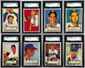 Baseball Cards:Lots, 1952 Topps SGC-Graded Collection (55). Includes SGC 88 NM/MT 8: 3cards - #82, 148, 176; SGC 84 NM 7: 7 cards - #22 ...