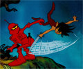 Animation Art:Production Cel, Wizards Peace and Weehawk Production Cel and Key MasterBackground (Ralph Bakshi, 1977)....
