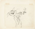 Animation Art:Production Drawing, A Very Merry Cricket Harry Cat, Tucker Mouse, and CricketLayout Drawing and Color Model Cels Group (Chuck Jones/Warne...(Total: 3 Original Art)