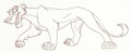 Animation Art:Production Drawing, The Lion King II: Simba's Pride Zira Model Drawing (WaltDisney, 1998)....