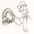 Animation Art:Production Drawing, Mickey's Christmas Carol Donald Duck Animation Drawing (WaltDisney, 1983)....