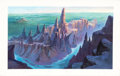 "Animation Art:Concept Art, Dinotopia: Quest For the Ruby Sunstone ""Blustery Bluffs Canyon"" Color Key/Concept Background Painting (Hallmark, 2005)..."