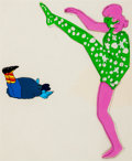 "Animation Art:Production Cel, The Beatles Yellow Submarine ""Lucy in the Sky with Diamonds""Production Cel Setup Group of 2 (United Artists/King ... (Total: 3Original Art)"