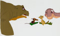 Animation Art:Production Cel, The Land Before Time Ducky, Pietre, Spike, and Little FootProduction Cel Setup (Sullivan Bluth/Amblin, 1988)....