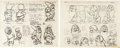 animation art:Model Sheet, Snow White and the Seven Dwarfs and others Model Sheet Groupof 9 (Walt Disney, 1930s-50s).... (Total: 9 Items)